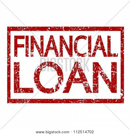 an images of illustration Stamp text FINANCIAL LOAN