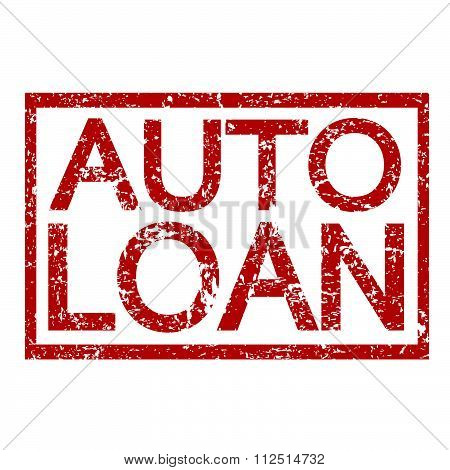 an images of illustration Stamp text AUTO LOAN