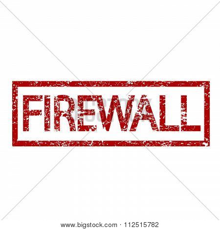 an images of illustration Stamp text FIREWALL