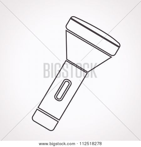 an images of illustration vector flashlight icon