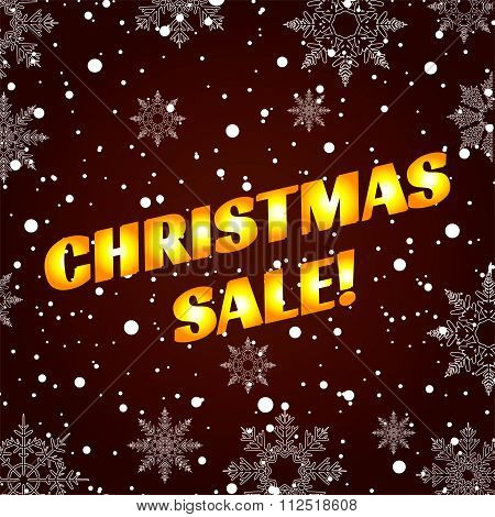 Christmas Sale. Winter sale. New year sale. The sun's rays glowing golden background banner snow sno