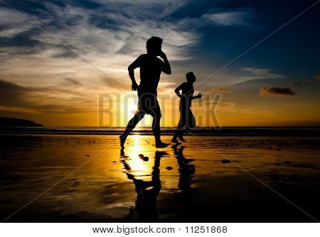 Run at sunset