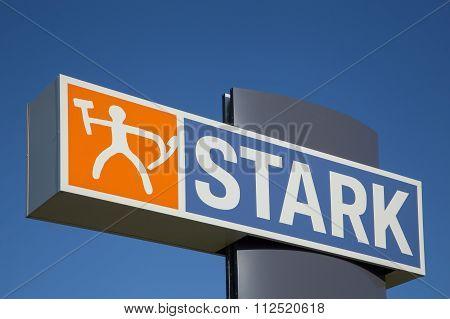 Stark logo on a panel