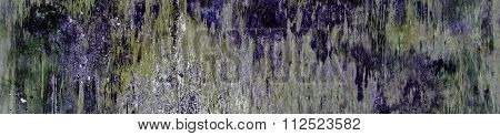 Purple & Multicolor Abstract Paint Patterns And Grunge Background - Panorama / Banner.