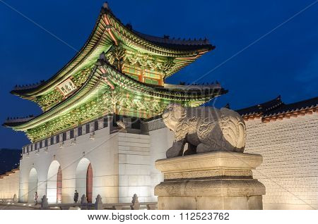 Gyeongbokgung Palace At Nigth In Seoul,south Korea