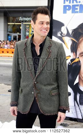 Jim Carrey at the Los Angeles Premiere of