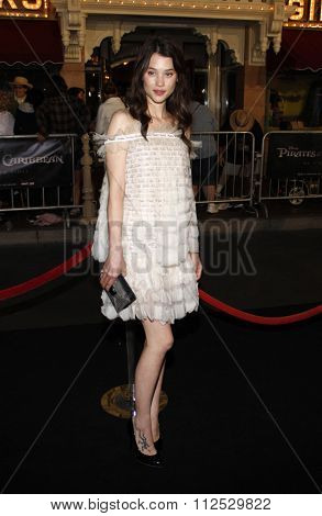 DISNEYLAND, CALIFORNIA - May 7, 2011. Astrid Berges-Frisbey at the World premiere of