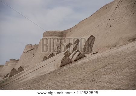 The Numerous Brick Tombs On The Territory Of The Medieval Town-fortress Of Khiva, Uzbekistan.