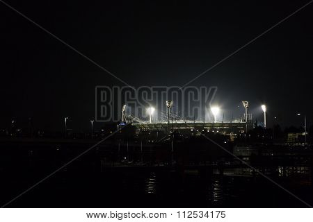 Melbourne Cricket Ground by night