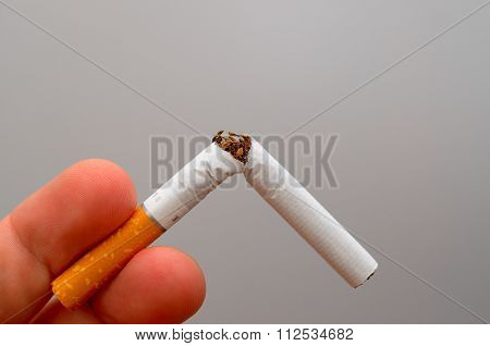 Healthy lifestyle concept. Quit smoking.