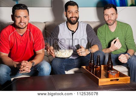 Guys Watching Tv At Night