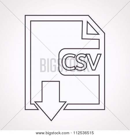 an images of File type CSV icon