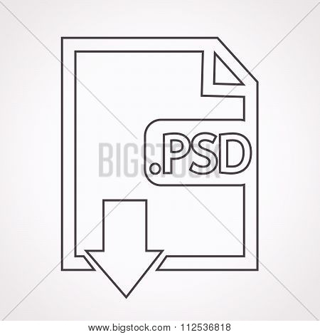 an images of Image File type Format PSD icon