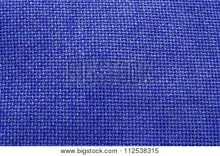 Bright Blue Woven Material / Textile Background Texture - Large File.