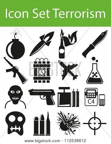 Icon Set Terrorism
