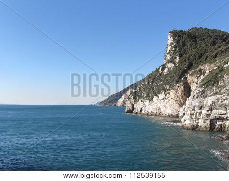 Panoramic View From Portovenere, Province Of La Spezia, Italy