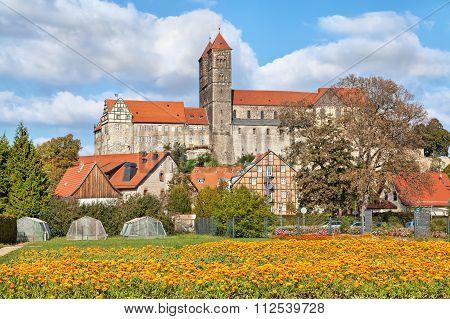 Castle And Church In Quedlinburg