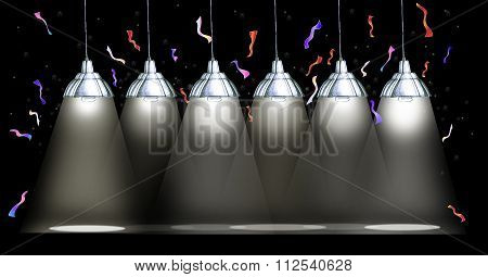 Celebrations Stage And Hanging Lamp Background