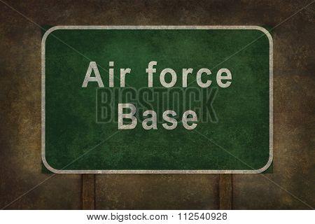 Air Force Base Roadside Sign Illustration