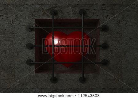 Heart behind bars