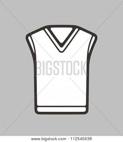 Vest On Background
