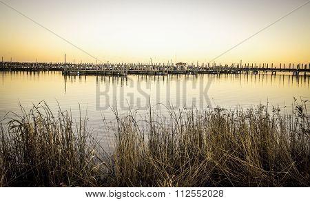 Small Coastal Village On The Lakes