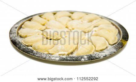 Pierogi Dumplings Vareniki Isolated On White