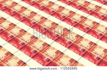 South african rands bills stacks background.