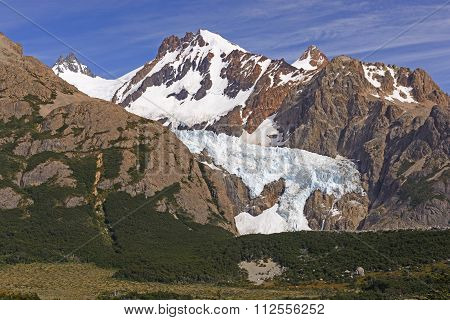 Glaciers And Mountains Of The Southern Andes
