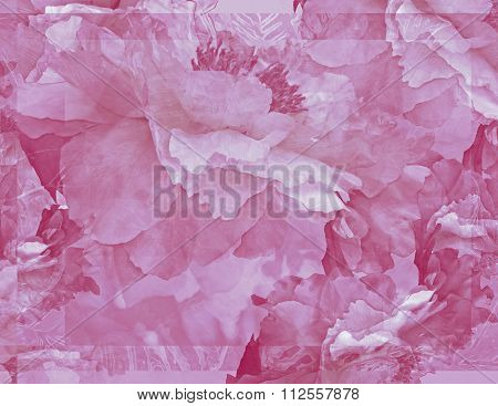 Floral Potpourri with Peonies in Pink