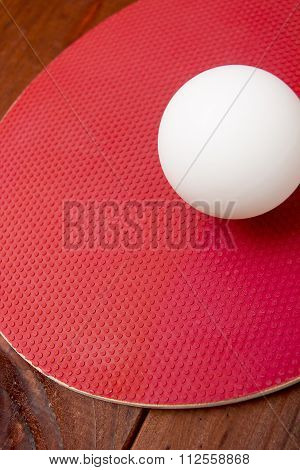 Ball Ping-pong On A Tennis Racket