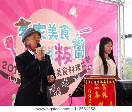 Two Musicians Perform At The Hakka Festival