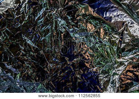 Aluminum Foil Is Crumpled