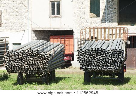 Tubes Of Metal For Agricultural Irrigation.