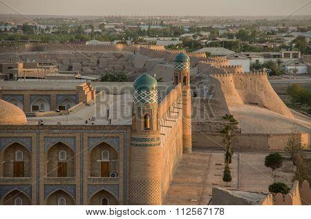 View To City Walls And Madrasah Of Buxoro