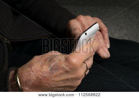 Grandma Checking Her Smartphone