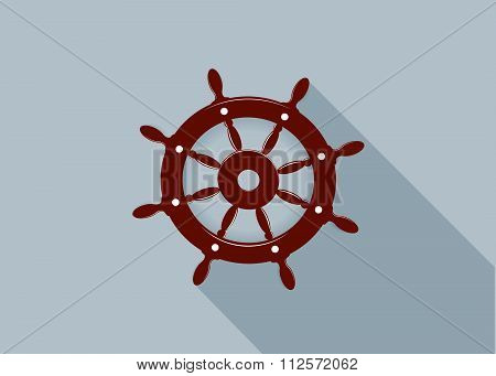 icon sea steering wheel.