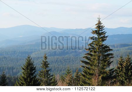 landscape of Beskydy mountains
