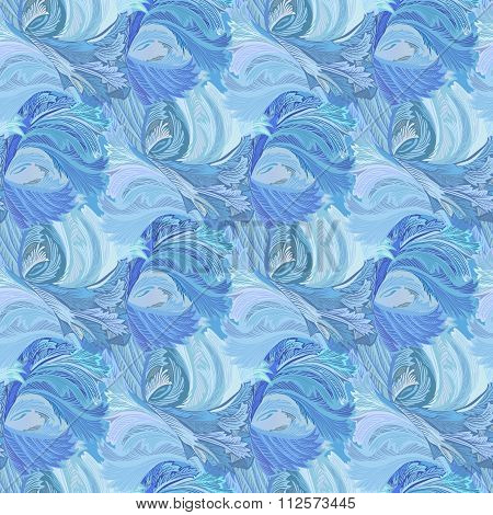 Winter frozen glass seamless pattern background.