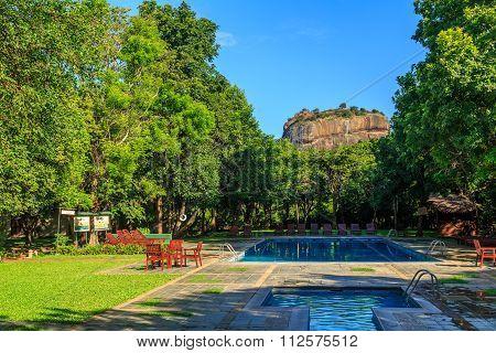 Resort Near Lion Rock At Sigiriya In Sri Lanka