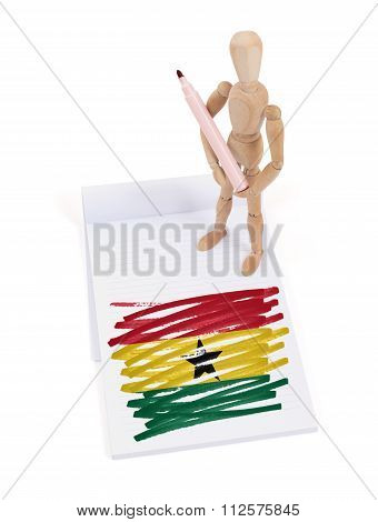 Wooden Mannequin Made A Drawing - Ghana