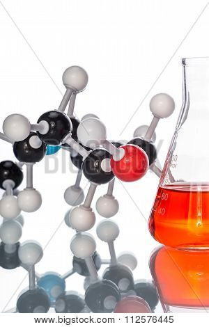 Molecular Structure And The Liquid In Beaker