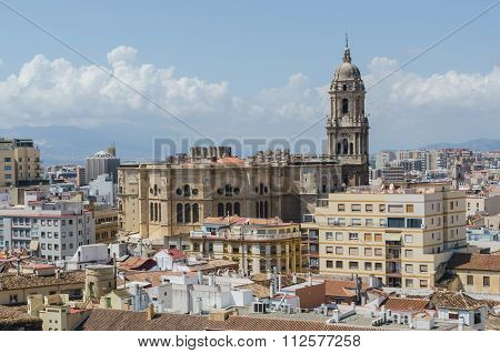 Malaga Cathedral Aerial View