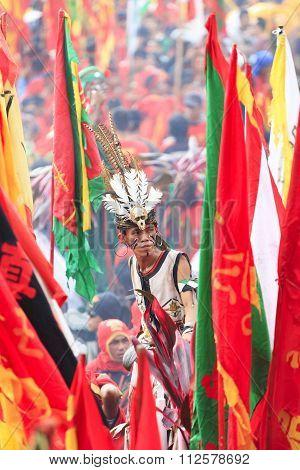 The shaman or tatung of Singkawang.