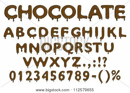 Chocolate alphabet icons. Chocolate alphabet signs. Chocolate alphabet realistic. Chocolate alphabet brown. Chocolate alphabet vector. Chocolate alphabet illustration. Chocolate alphabet isolated