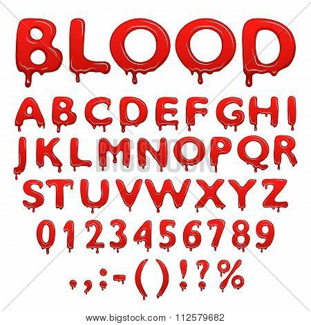 Blood alphabet icons. Blood alphabet signs. Blood alphabet realistic. Blood alphabet red. Blood alphabet vector. Blood alphabet illustration. Blood alphabet isolated