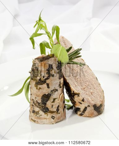 Grilled Sirloin With Green Herbs