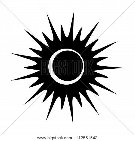 Solar eclipse single black icon