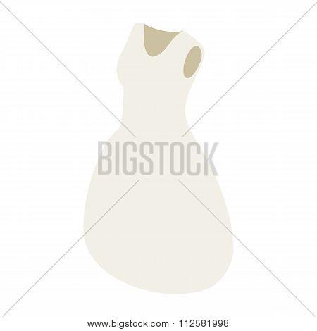 White bride dress 3d icon