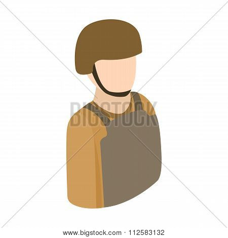 Soldier half-body isometric 3d icon